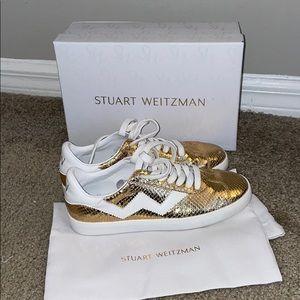 Stuart Weitzman Daryl sneakers gold 37